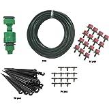 TedGem impianto a goccia irrigazione kit micro sistema di irrigazione a goccia impianto d' irrigazione giardino tubo kit con timer automatico