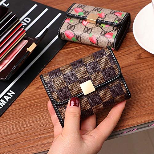 Women Designer Wallet Rfid Blocking Credit Card Holder Wallets Pu Leather Small Accordion Ladies Purse - Brown by Guncore (Image #1)