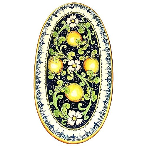 CERAMICHE D'ARTE PARRINI - Italian Ceramic Art Serving Tray Plate Pottery Hand Painted Decorative Made in ITALY Tuscan