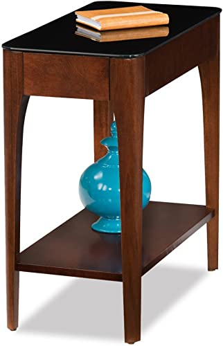 Leick Home Obsidian Narrow Chairside Table