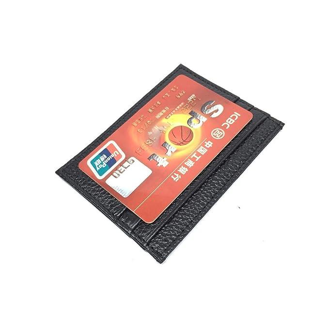 Amazon.com: Fafalisa - Tarjetero de piel para tarjetas de ...