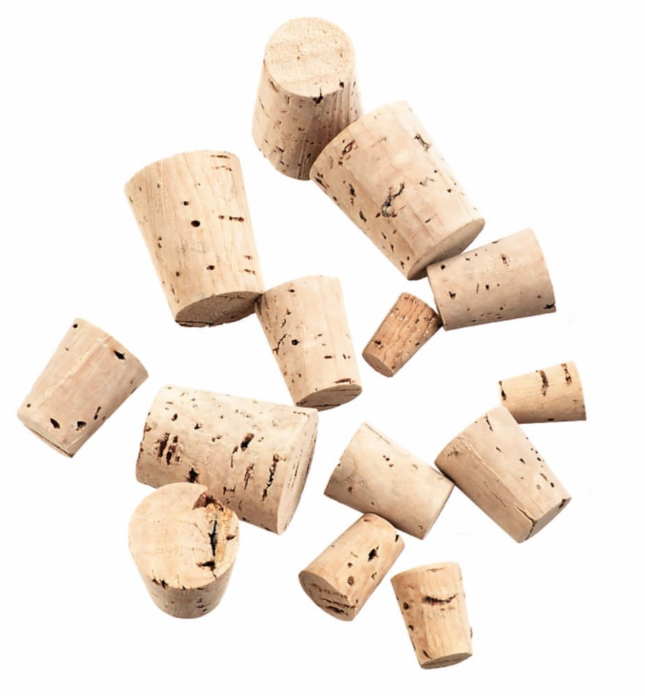 GSC International Assorted Size (0-11) Cork Stoppers, Set of 100 by GSC International