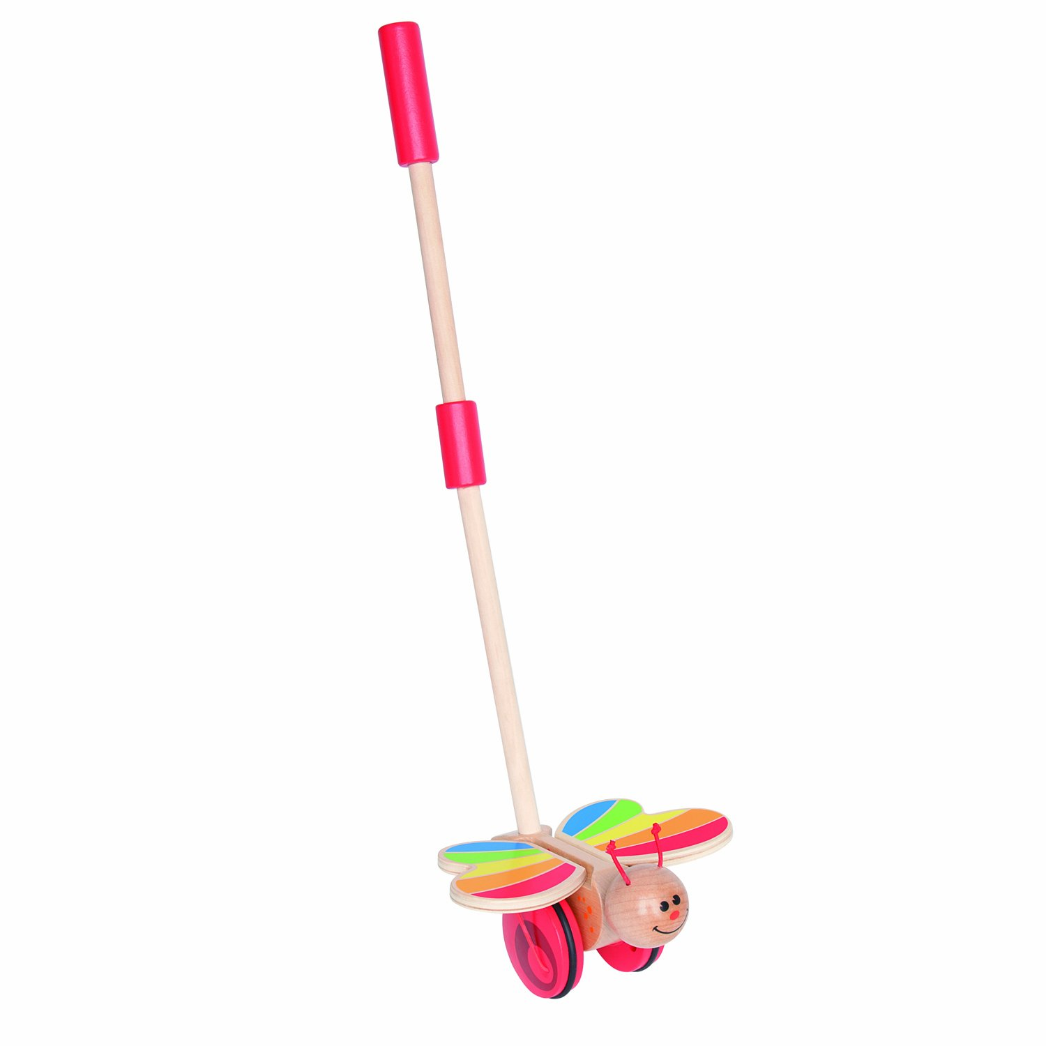 Hape Award Winning Butterfly Wooden Push and Pull Walking Toy