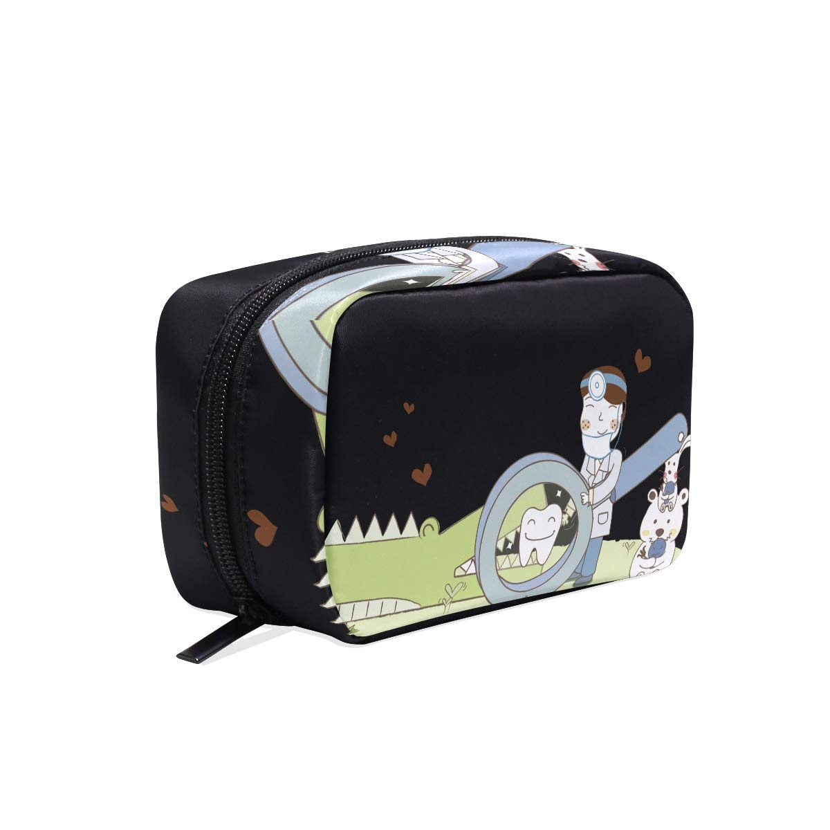 Cosmetic Bag Doctor Magnifying Crocodile Tooth Girls Makeup Organizer Box Lazy Toiletry Case