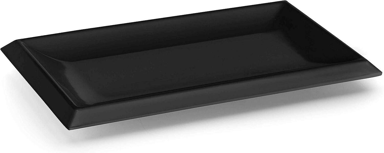 Lacor - 63541 - Bandeja Rectangular De Melamina Classic 26x16x2cm- Negro
