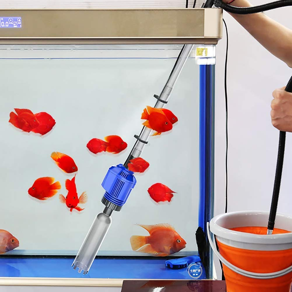 Aquarium Water Changer-Electric Gravel Cleaners with 1.6m High Lift 2 Nozzles 250cm Power Cord