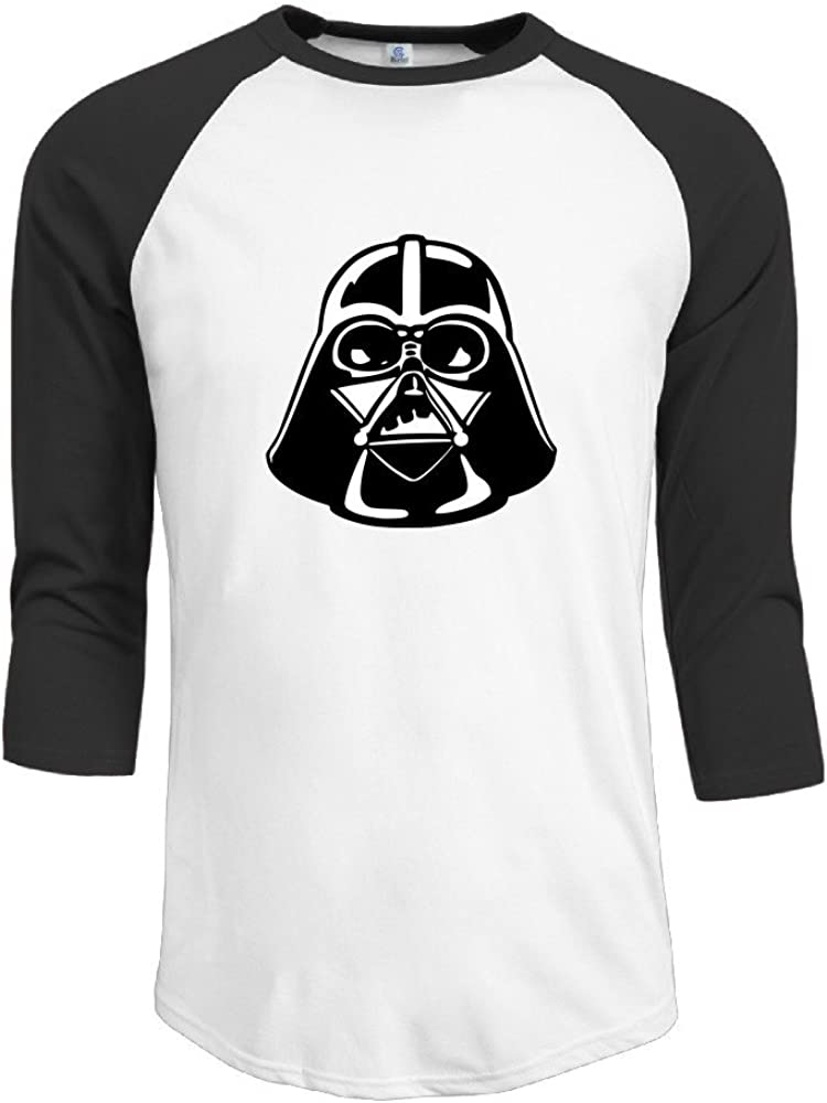 Men's Darth Vader 3/4 Sleeve Cotton Baseball T Shirt