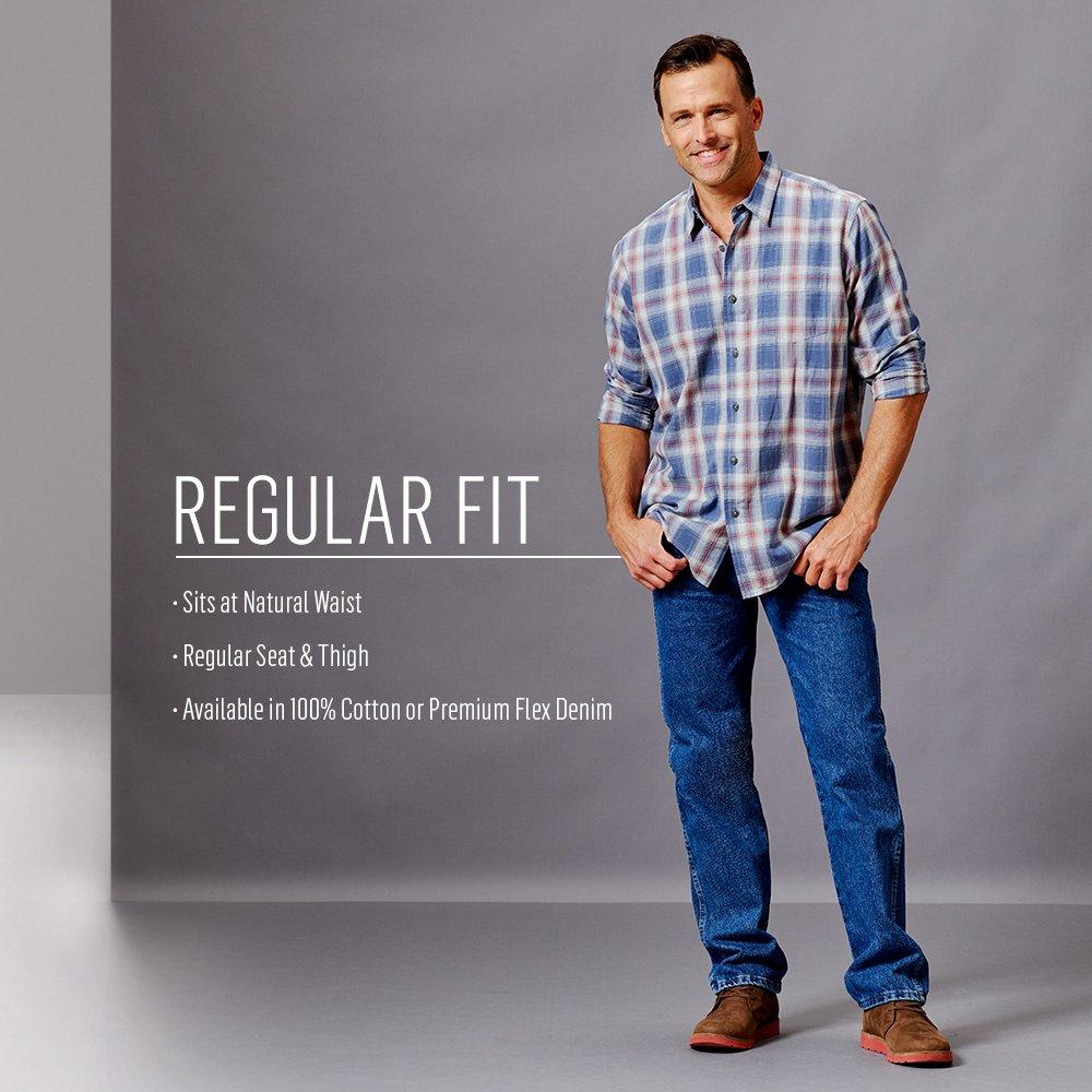 Wrangler Authentics Men's Classic 5-Pocket Regular Fit Jean,Stonewash Dark,42x28 by Wrangler (Image #4)