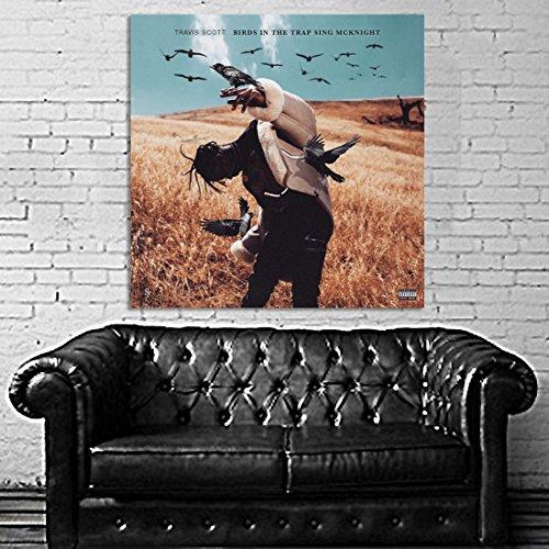 Poster Mural Travis Scott 40x40 inch (100x100 cm) on Adhesive Vinyl #05