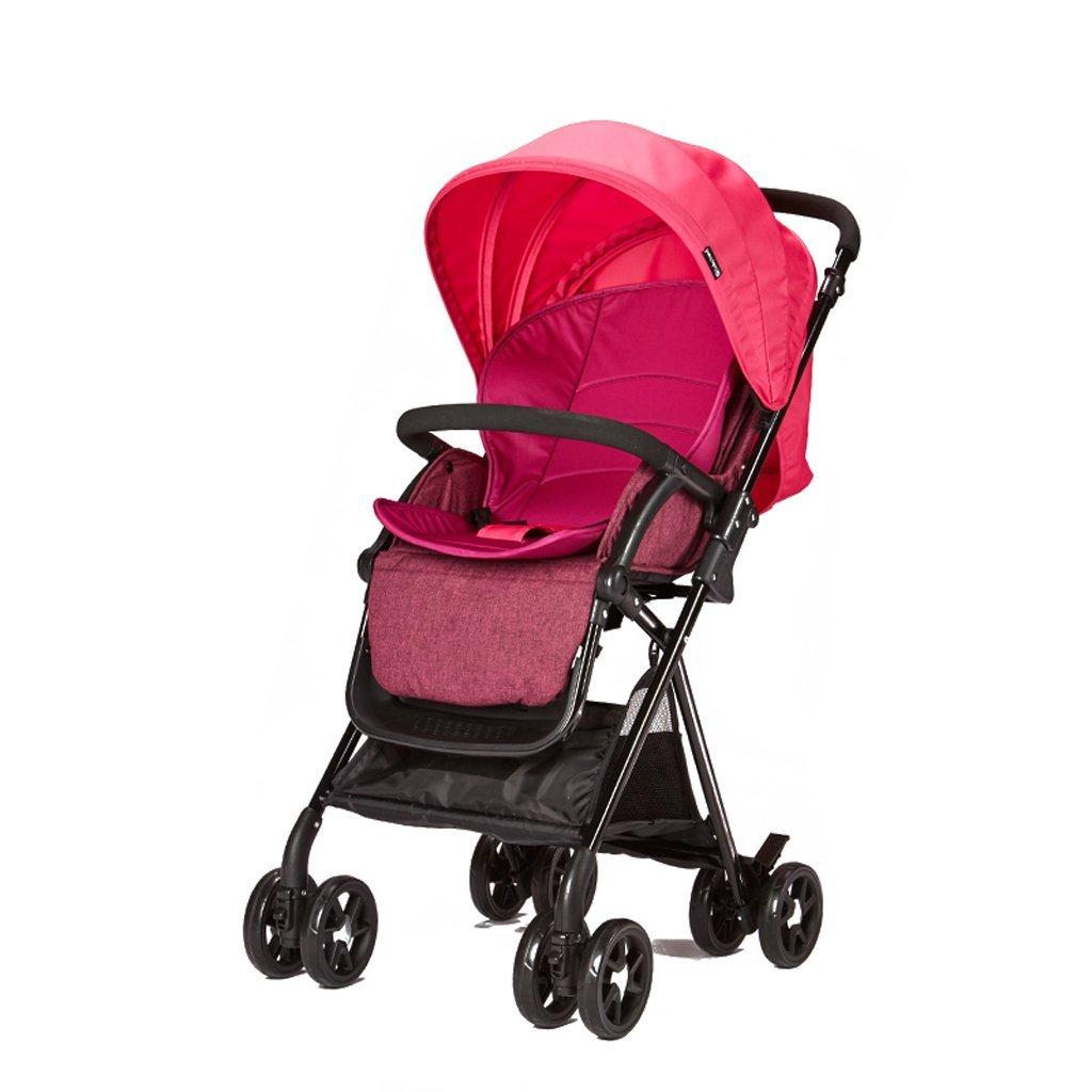 FORWIN UK- Anti-Rutsch-Kind gefaltete Landschaft Kinderwagen Kinderwagen Kinderwagen Kinderwagen Kinderwagen Neugeborenen Kinderwagen 0-3 Jahre alt Baby Rassel Spielzeug (Farbe : lila baby carriage+Rattle toys) 8783c5