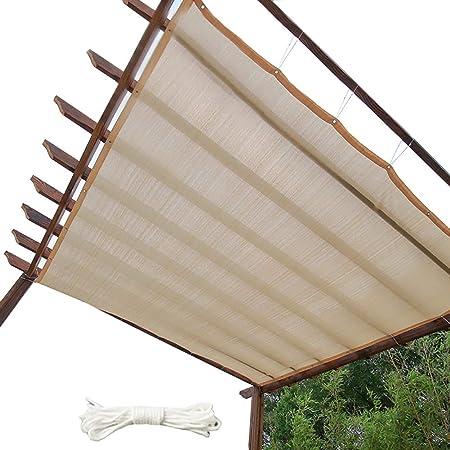 Sombra Solar YXX Borde tapado en Tela de Sombra con Ojales, Malla para Trabajo Pesado para invernaderos, toldo de Malla Solar 90% para pabellón con Cubierta de pérgola (Size : 4mx4m): Amazon.es: