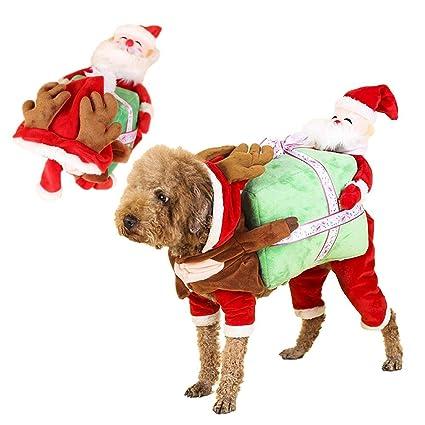 personukXD Disfraz de Navidad para Perro, Trajes de Navidad Ropa ...