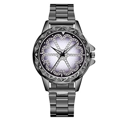 Coconano Relojes Pulsera Mujer, Vansvar Casual Cuarzo Correa de Acero Inoxidable Dama Afortunada Flor Reloj de Diamantes de Imitación: Amazon.es: Ropa y ...