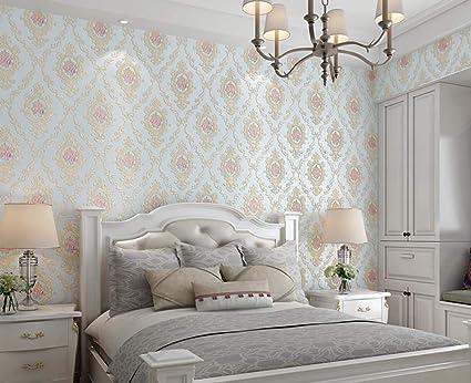 MISSu0026YG Pastoral Non Woven Wallpaper 3D Stereo Suppressive TV Background  Wall Living Room Bedroom Wallpaper