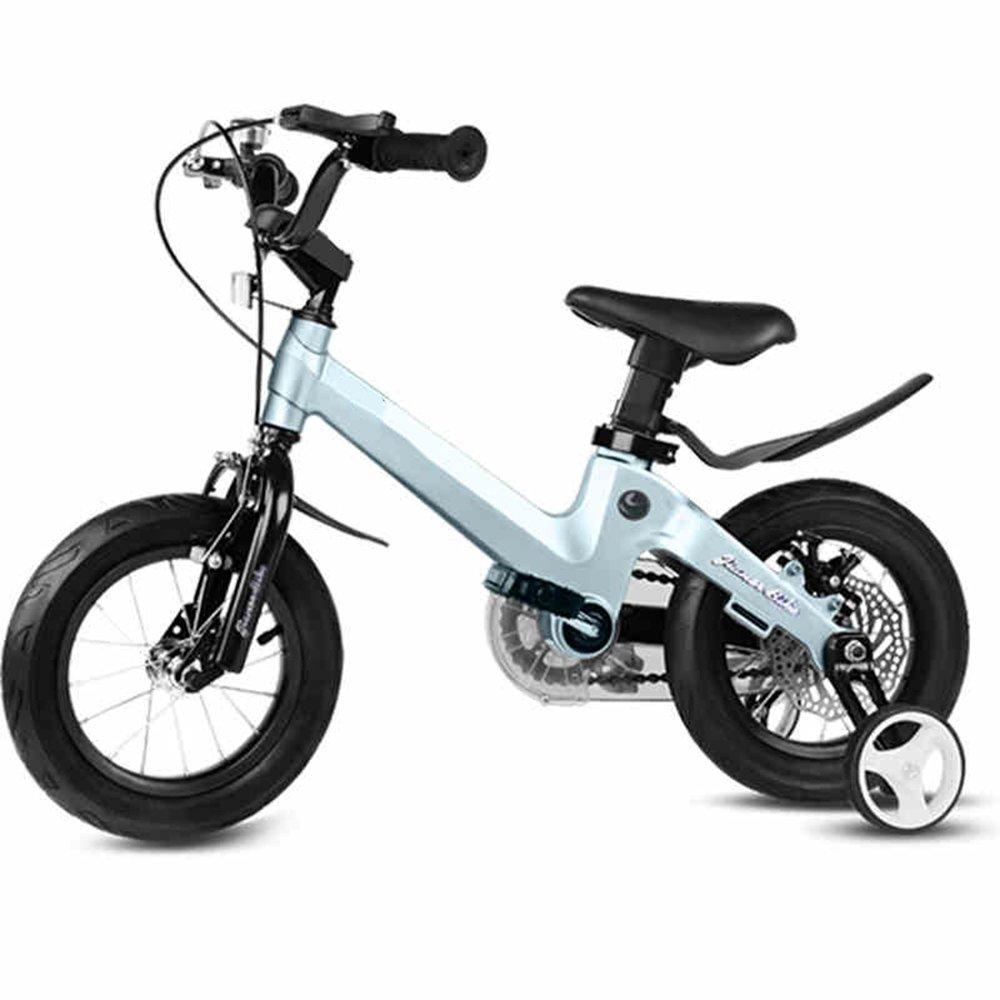 HAIZHEN マウンテンバイク 18インチ子供用自転車ベビー用バイク6-10歳乳母車少年少女の自転車マグネシウム合金フレーム安全ディスクブレーキ 新生児 B00ZK14RD0 青 青