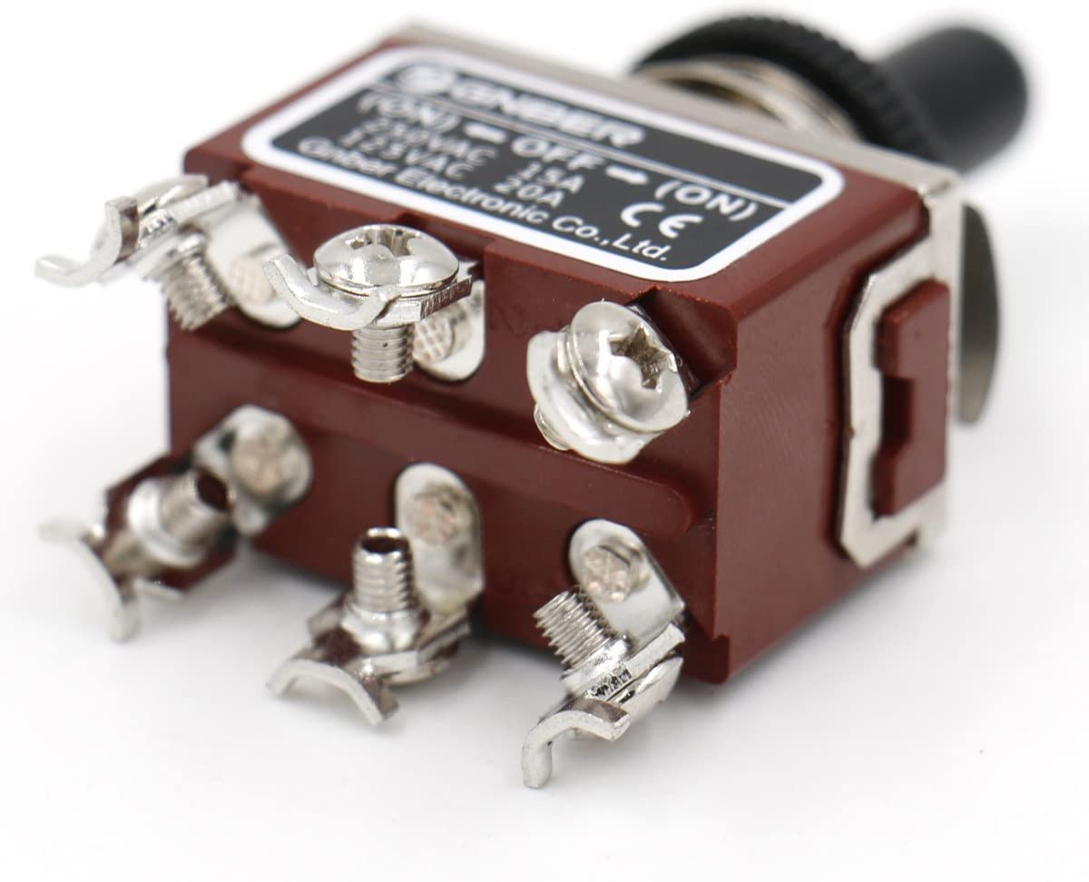 //Off// On On heschen Metall Kippschalter DPDT Momentary 3/Position 15/A 250/VAC mit wasserfester Abdeckung CE
