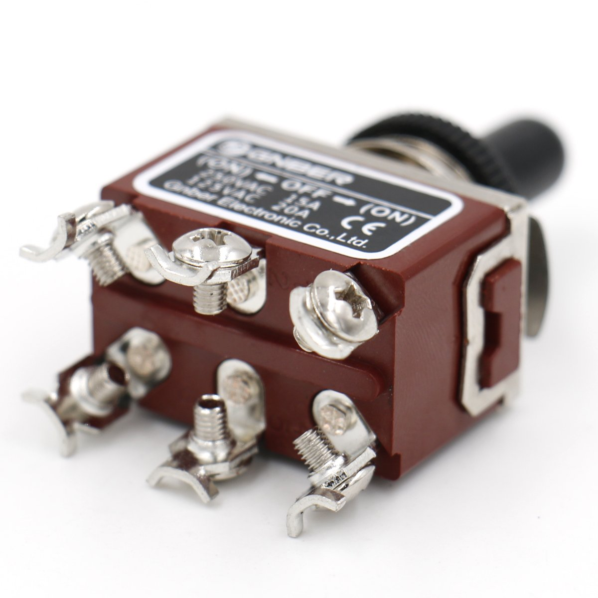 Heschen metal toggle switch DPDT Momentary //OFF// ON 3 position 15A 250VAC with waterproof cover CE ON