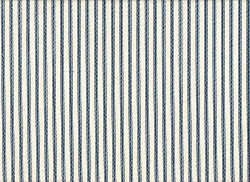Close to Custom Linens French Country Nautical Blue Ticking Stripe Bradford Valance, Lined ()