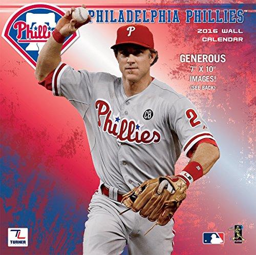 Philadelphia Phillies Calendars - Turner Philadelphia Phillies 2016 Mini Wall Calendar, September 2015-December 2016, 7 x 7