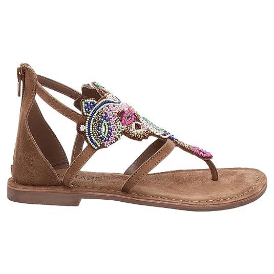 3b24ba5e79e8 Lazamani   Zehentrenner - Braun   Taupe, Größe 36, Farbe Beige   Amazon.co.uk  Shoes   Bags