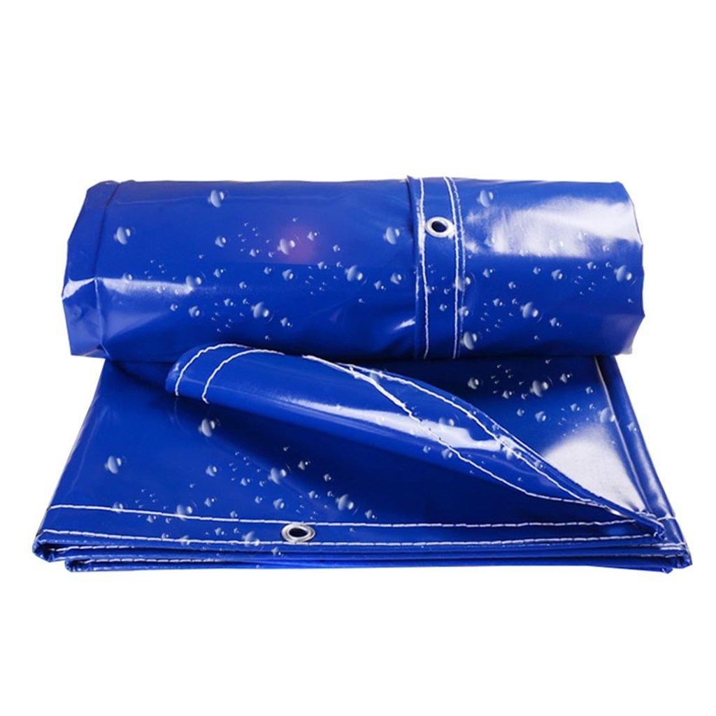 Plane Persenning Staubdichte wasserdichte Plane-LKW-Schuppen-Tuch-Boden-Blatt-Abdeckungs-Zelt-Unterlage für das Kampieren und im Freien, UVBesteändiges (blau) Abdeckplanen (größe   3MX4M)