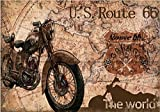 Retro Motorcycle Map backdrop High-grade portrait cloth Computer print wall photography studio background RVT310