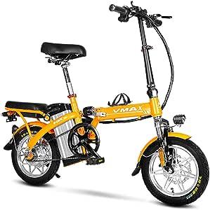 Bicicleta eléctrica plegable portátil y fácil de almacenar en caravana carga corta para autocaravana con batería extraíble de iones de litio y motor silencioso de 240 vatios adultos,Naranja,50to80KM: Amazon.es: Hogar