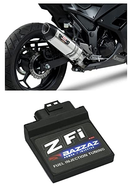 Yoshimura R-77 ss-ss-cf Slip On Escape & bazzaz z-fi ...