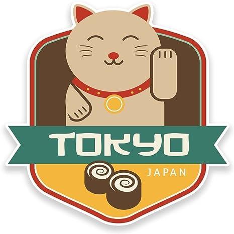 2 X Pegatina de vinilo de Tokio Japón viaje equipaje coche #9226