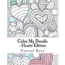 Color My Doodle - Hearts Edition: Adult Coloring Book