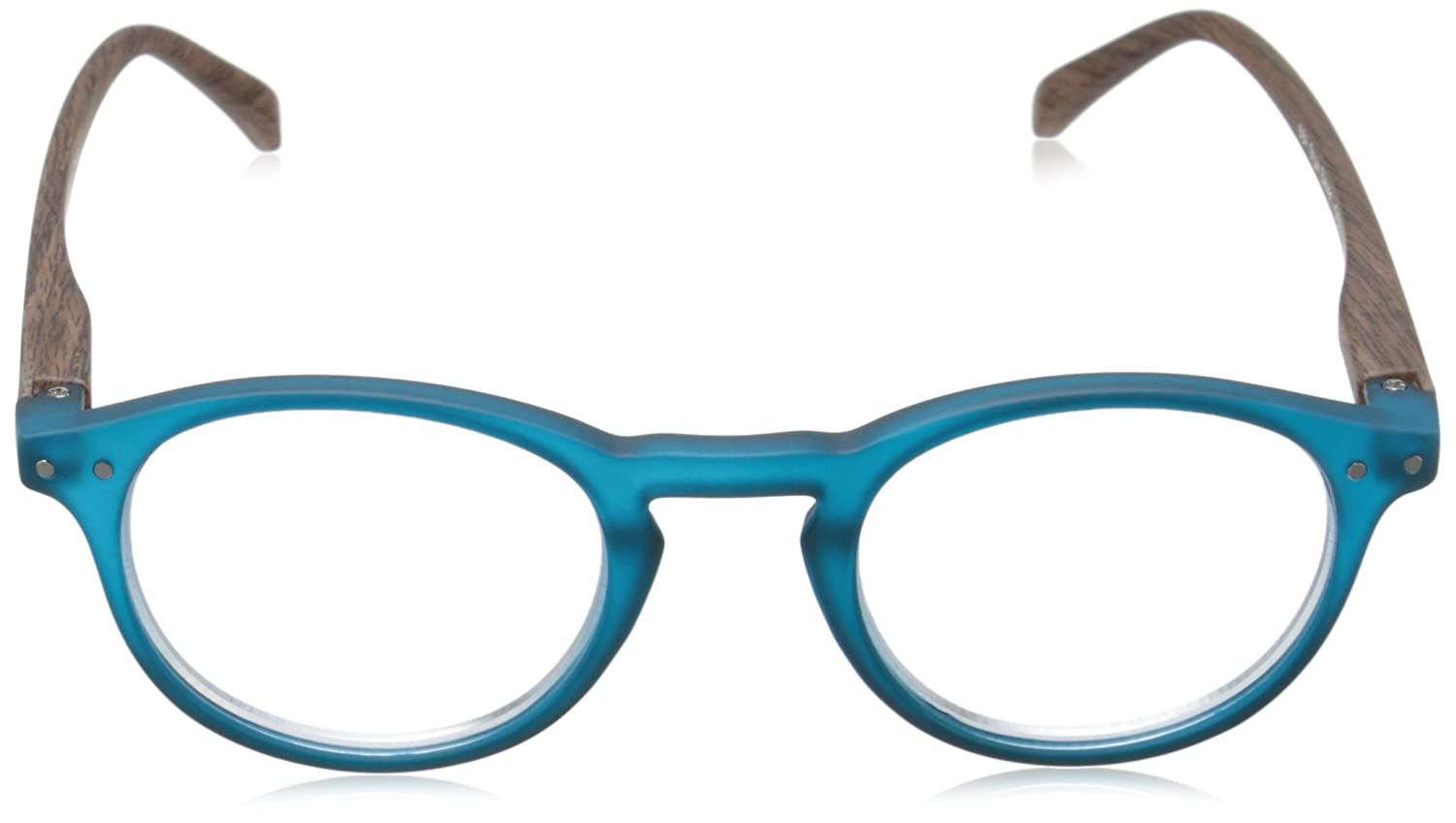 2.25 Peepers Style Eleven 684225 Round Readers Teal