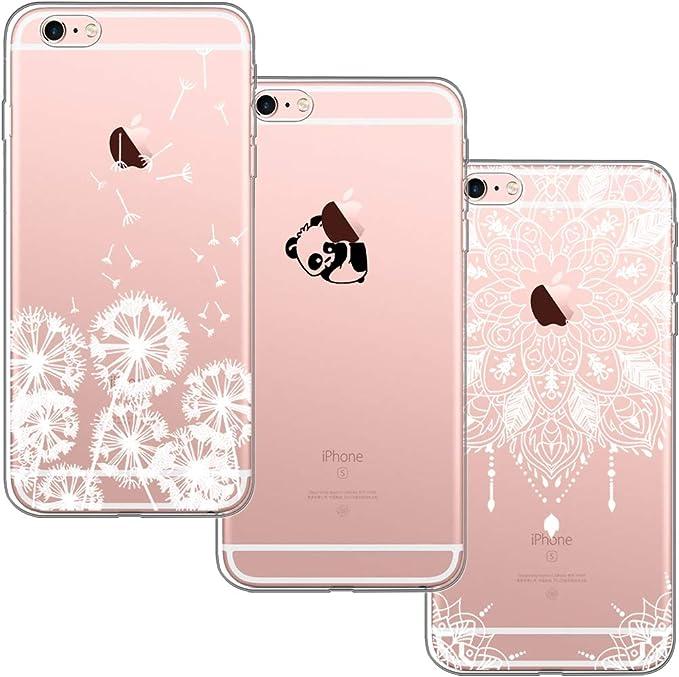 3 Pack] Funda iPhone 6, Funda iPhone 6S, Funda de Silicona ...