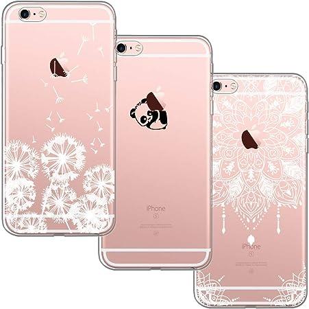 [3 Pack] per Apple iPhone 6 e 6S 4.7, con Bordo Anteriore Salvaschermo Cover Custodia Bumper Morbida Crystal Clear HD TPU Silicone Gel Gomma Robusta ...