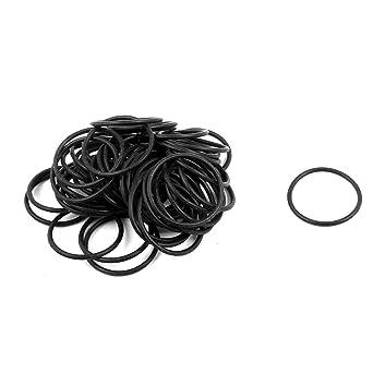 100Pcs Black 15mm x 1.2mm Nitrile Rubber O Ring NBR Oil Sealing Grommets