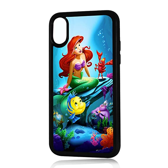 sale retailer 47f77 ef814 (For iPhone X) Durable Protective Soft Back Case Phone Cover - A11128  Little Mermaid Ariel