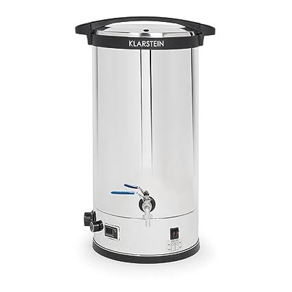 Klarstein Füllhorn • Caldera de maceración • Olla de cocción de Mosto • Planta cervecera • 30 litros • Calor a 3 Niveles: 900, 1600 y 2500 W de ...
