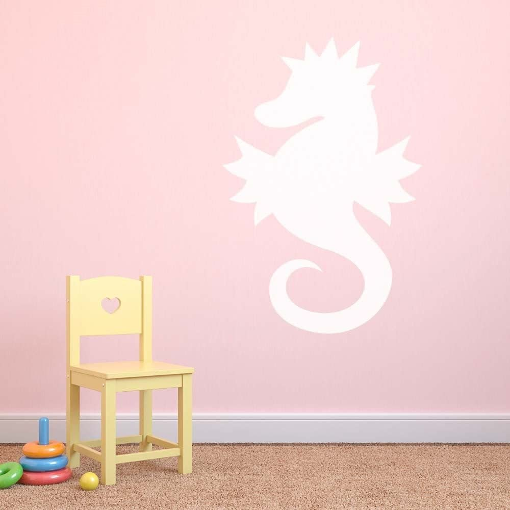White Supertogether Seahorse Dry Wipe Whiteboard Childrens Bedroom Playroom Wall Sticker