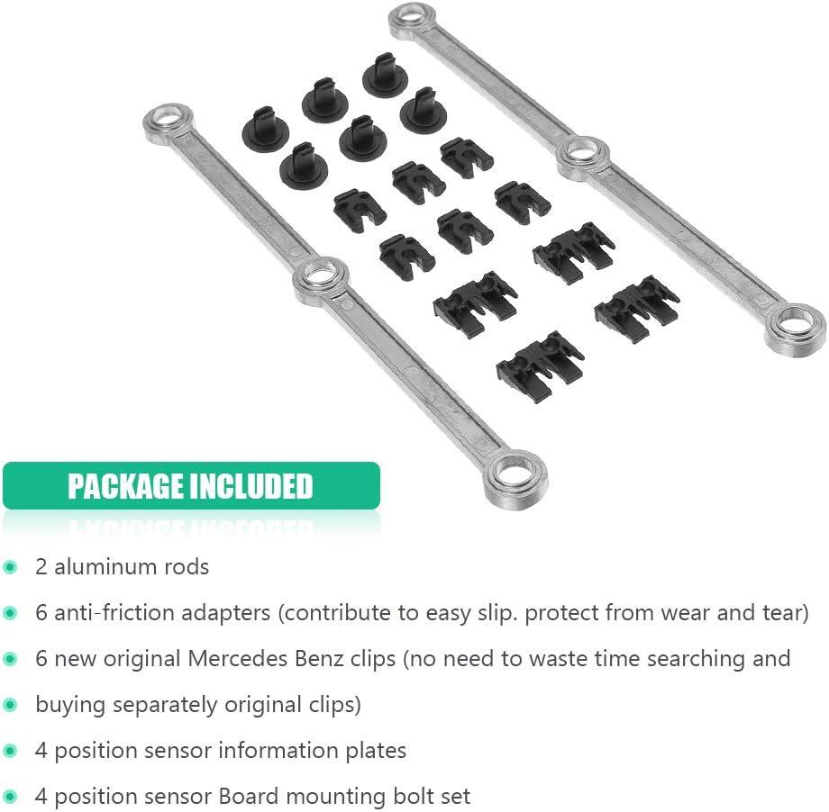 Intake Manifold Swirl Runner Connecting Rods Diesel 3.0L V6 Repair Kit for Mercedes Benz 6420907737 OM642