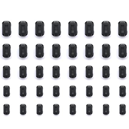 Ferrite Ring Cores x 20 Pieces Clip-on Noise Supressor Cable LED Light Static Electronic Components & Semiconductors Electrical Equipment & Supplies