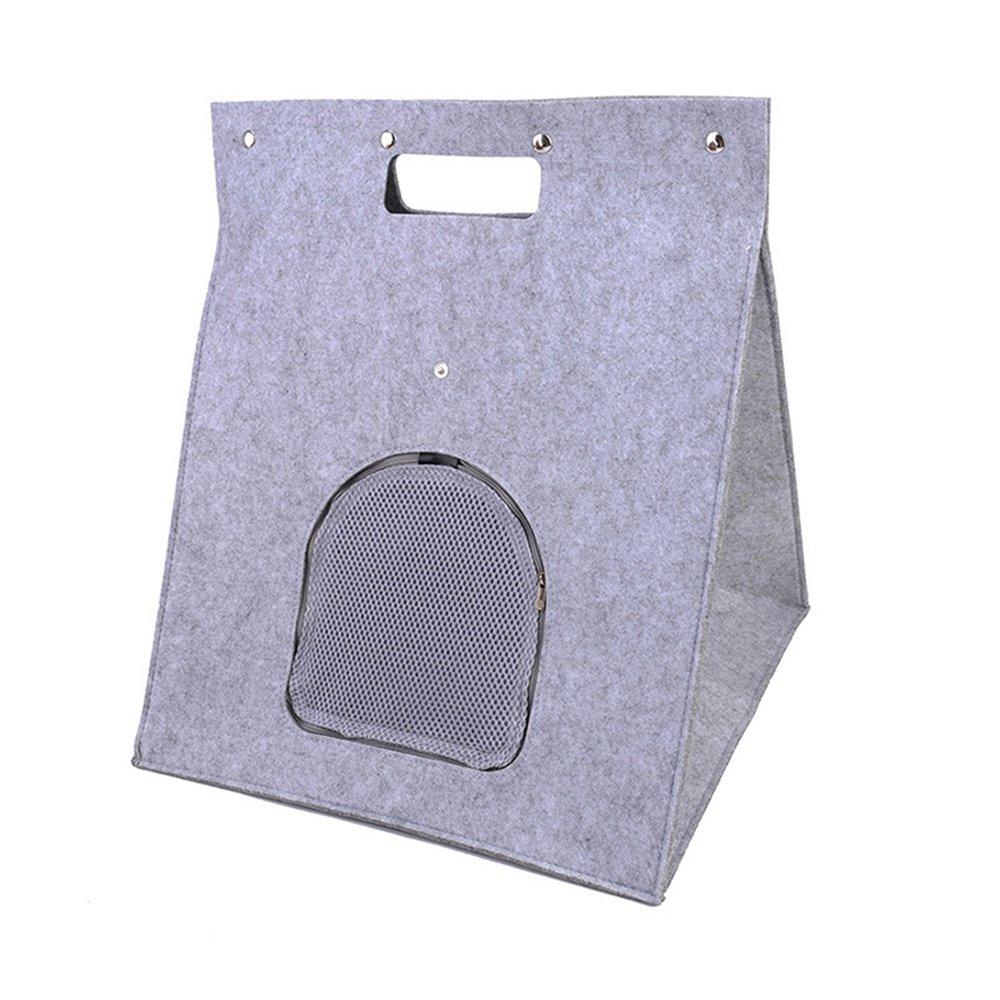 GFEU Triangle Pet Nest House - Bolsa Plegable portátil de Fieltro para Mascotas, Bolsa de Transporte para Gatos, Cachorro, Multifuncional, ...
