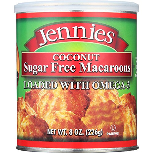 Coconut Macadamia Nut Cookies - Jennies Macaroons, Coconut, Sugar Free, 8-Ounce
