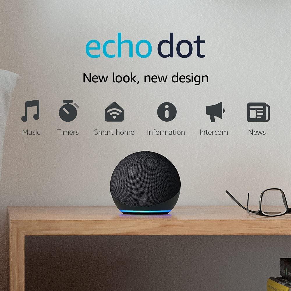 Nuevo Echo Dot (4ta Generación, Edición 2020) | Parlante inteligente con Alexa | Negro