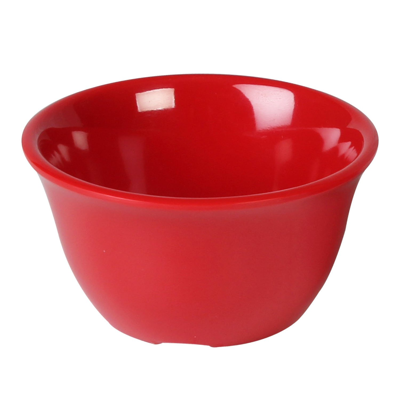 Excellanté Crimson Melamine Collection Boullion Mug, 7-Ounce, Pure Red, 12-Piece