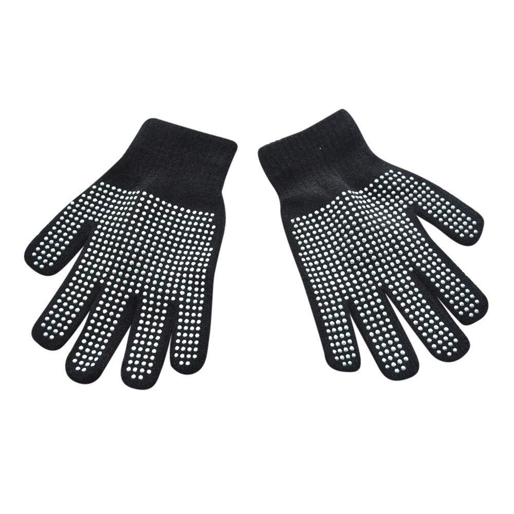 Swyss Boys Girls Winter Warm Magic-Stretch Glove,Kids Size Non-slip Gripper Colorful Set Knit Gloves