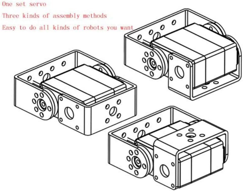 Control Angle 270/° Robot servo 25kg RDS3225 Metal Gear Digital servo arduino servo with Long and Short Straight U Mouting