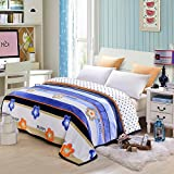 Multifunctional thickening flannel blanket, single and double bed sheets, office warming, napping, air conditioner, towel quilt,120200cm,Huahua Thanksgiving wedding Christmas birthday gift