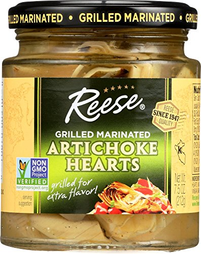 Reese Grilled Marinated Artichokes Hearts, 7.5-Ounces (Pack of 12) ()