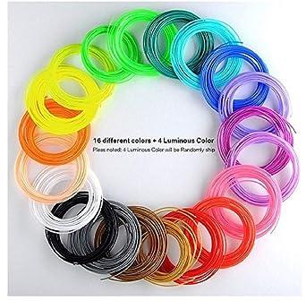 Filamento 3d de lápiz, 20 colores, Filamento PLA/PCL/ABS de lápiz ...