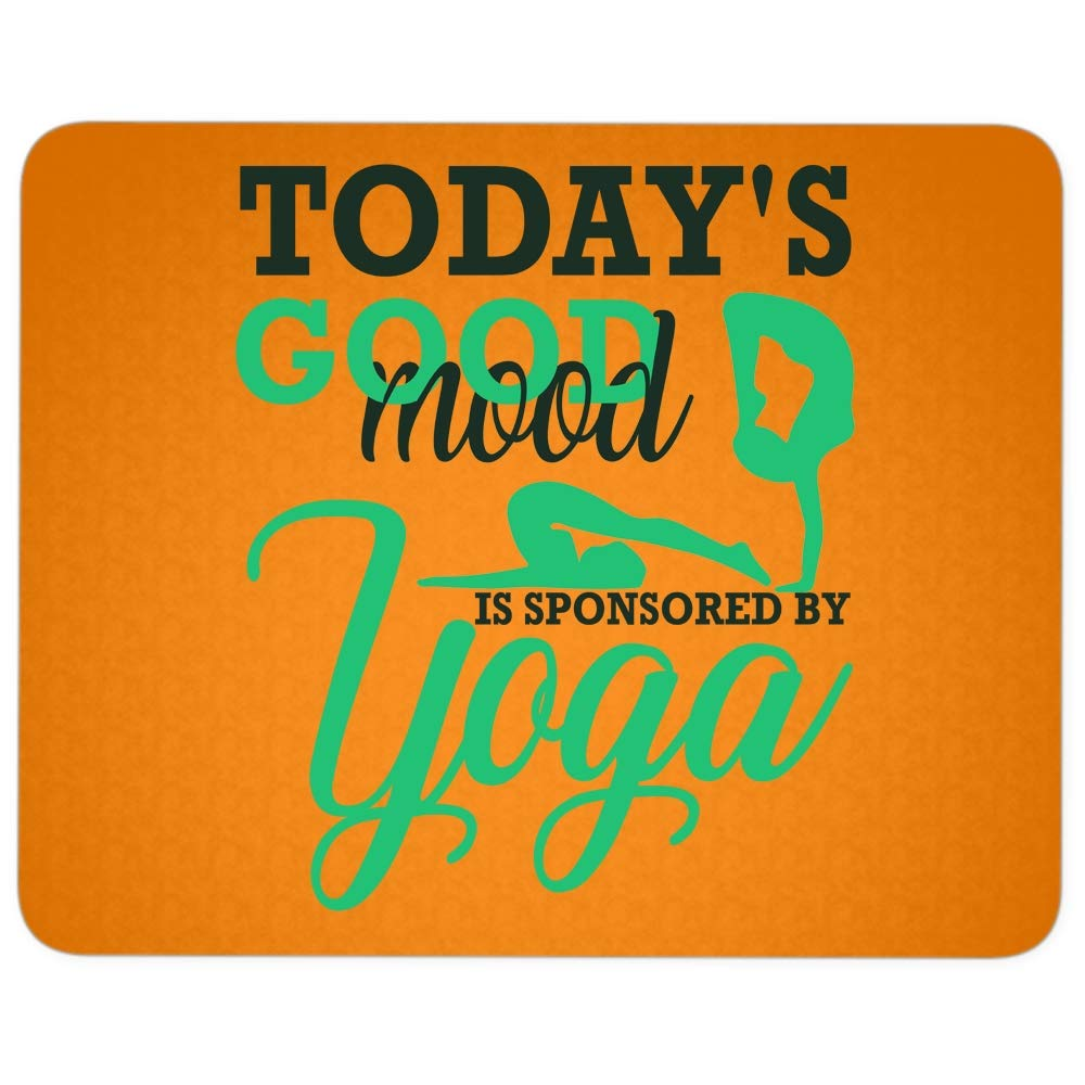 Amazon.com : Im A Yoga Mouse Pad for Typist Office, Todays ...
