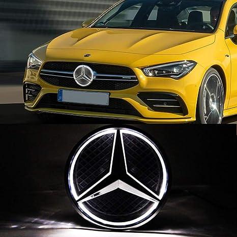 Emblems Mercedes Benz LED Emblem White Light Drive Brighter ...